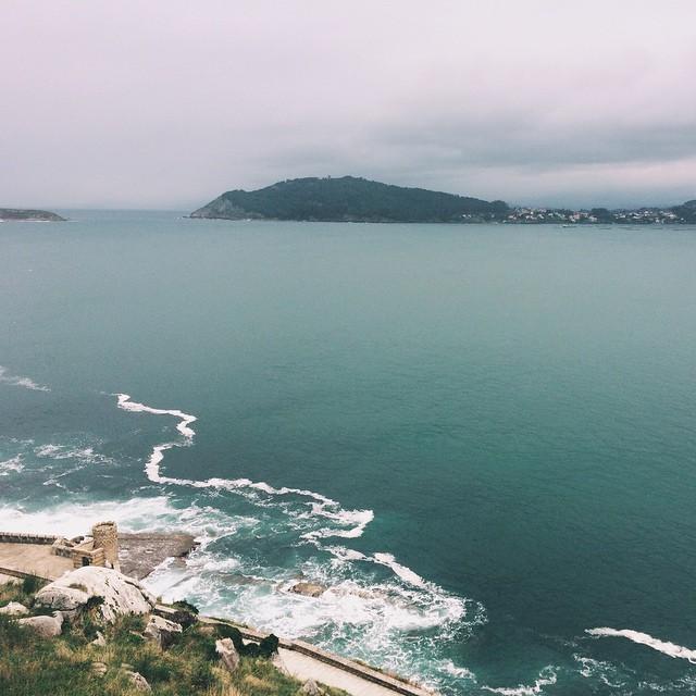 El mar Atlántico en Baiona